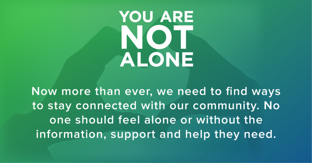 Not Alone Campaign Banner