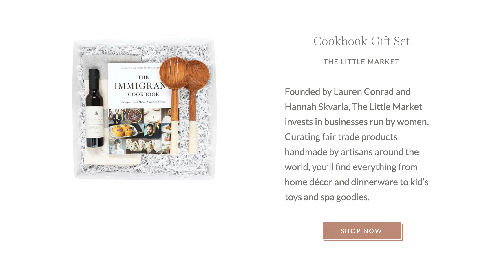 Cookbook Gift Set from The Little Market